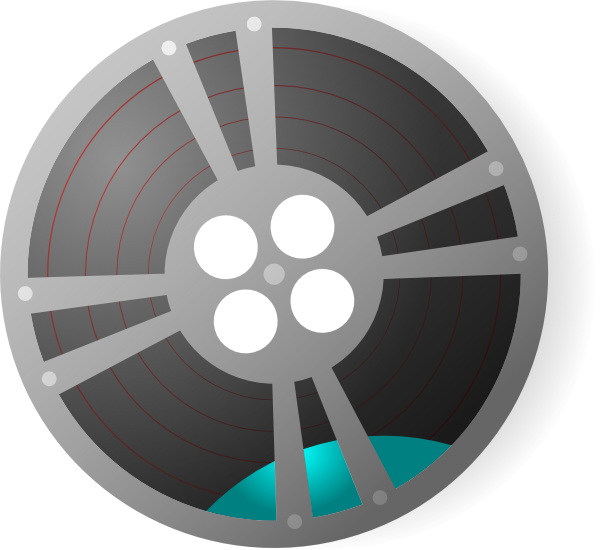 Moving clipart camera. Video film reel clip