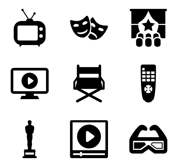icon packs vector. Movie clipart movie symbol