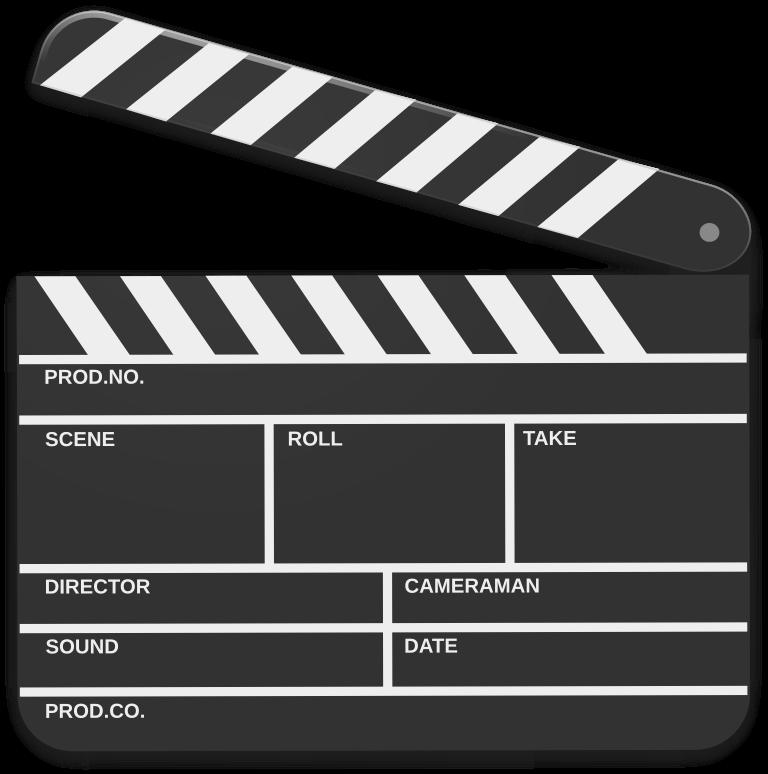 Movie clipart board. Scene marker medium image