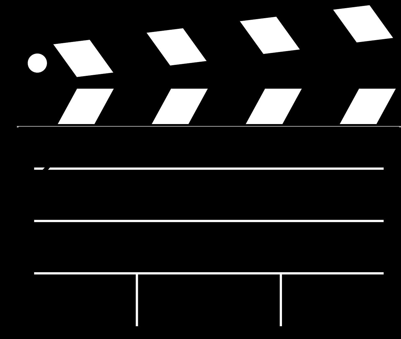 Clipboard clap blank were. Film clipart movie star