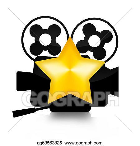 Stock illustration drawing gg. Film clipart movie star