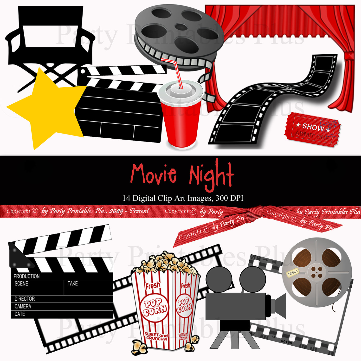 Free hollywood cliparts download. Film clipart movie theme