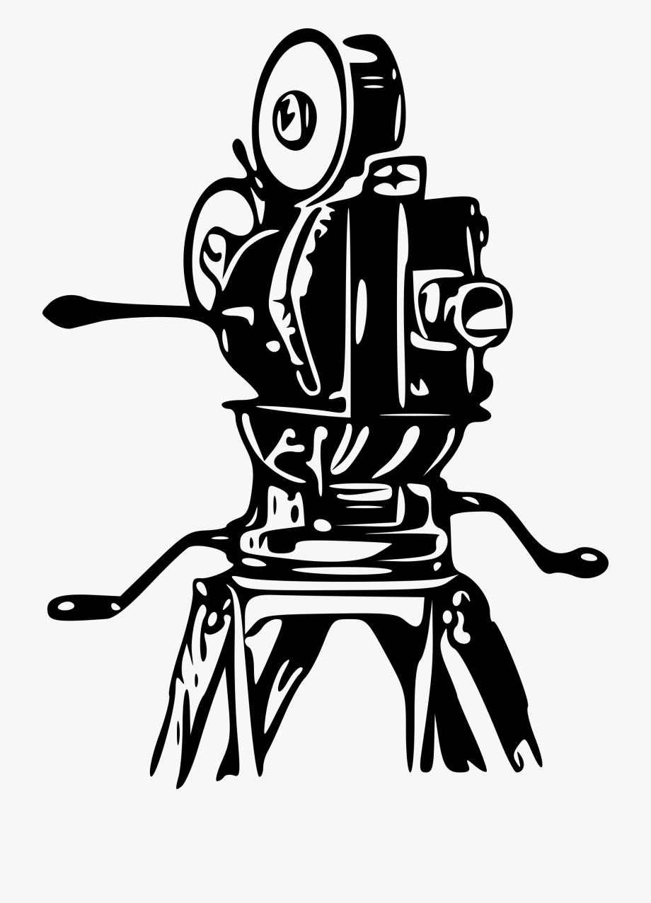 Movie camera . Film clipart old fashioned