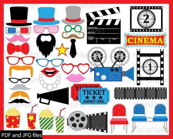 Film clipart pdf. Cinema props prop and