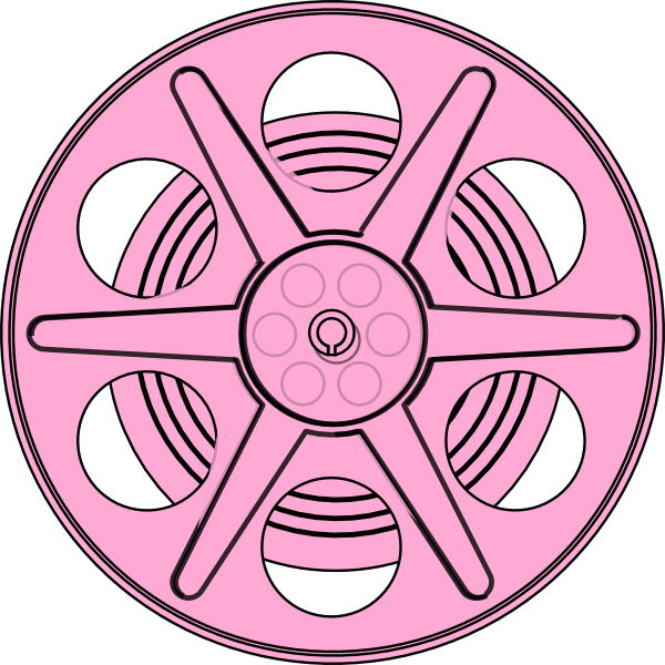 Wheel clipart pink. Reel clip art at