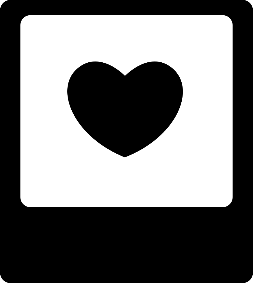Heart in photo svg. Polaroid clipart graphic