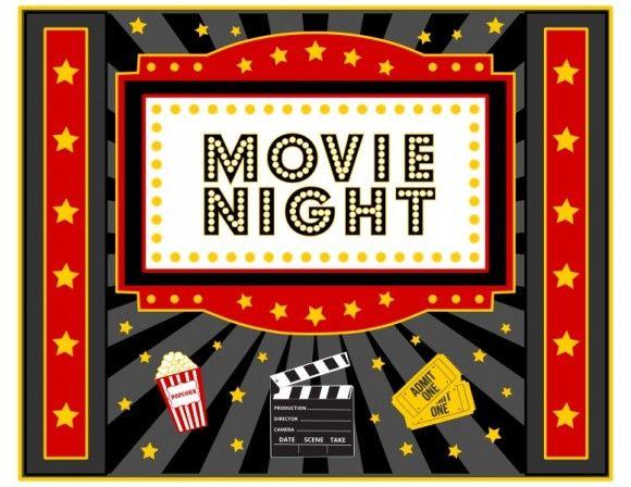 Night clipart outdoor movie night. Free printable freeprintables movienight