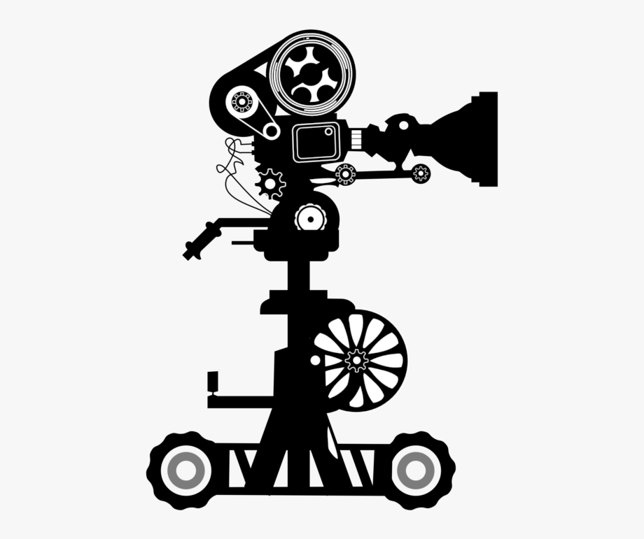 Film clipart rolling film. Black and white camera