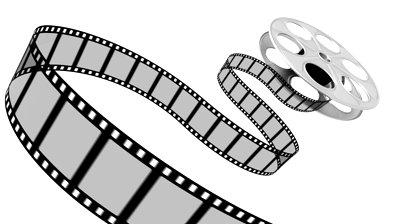 Free movie reel download. Film clipart rolling film