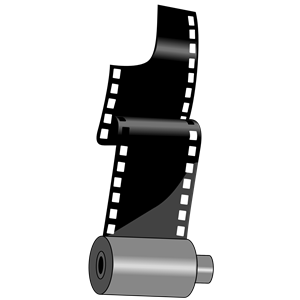 Roll cliparts of free. Film clipart rolling film