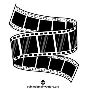 Tape roll vector image. Film clipart rolling film