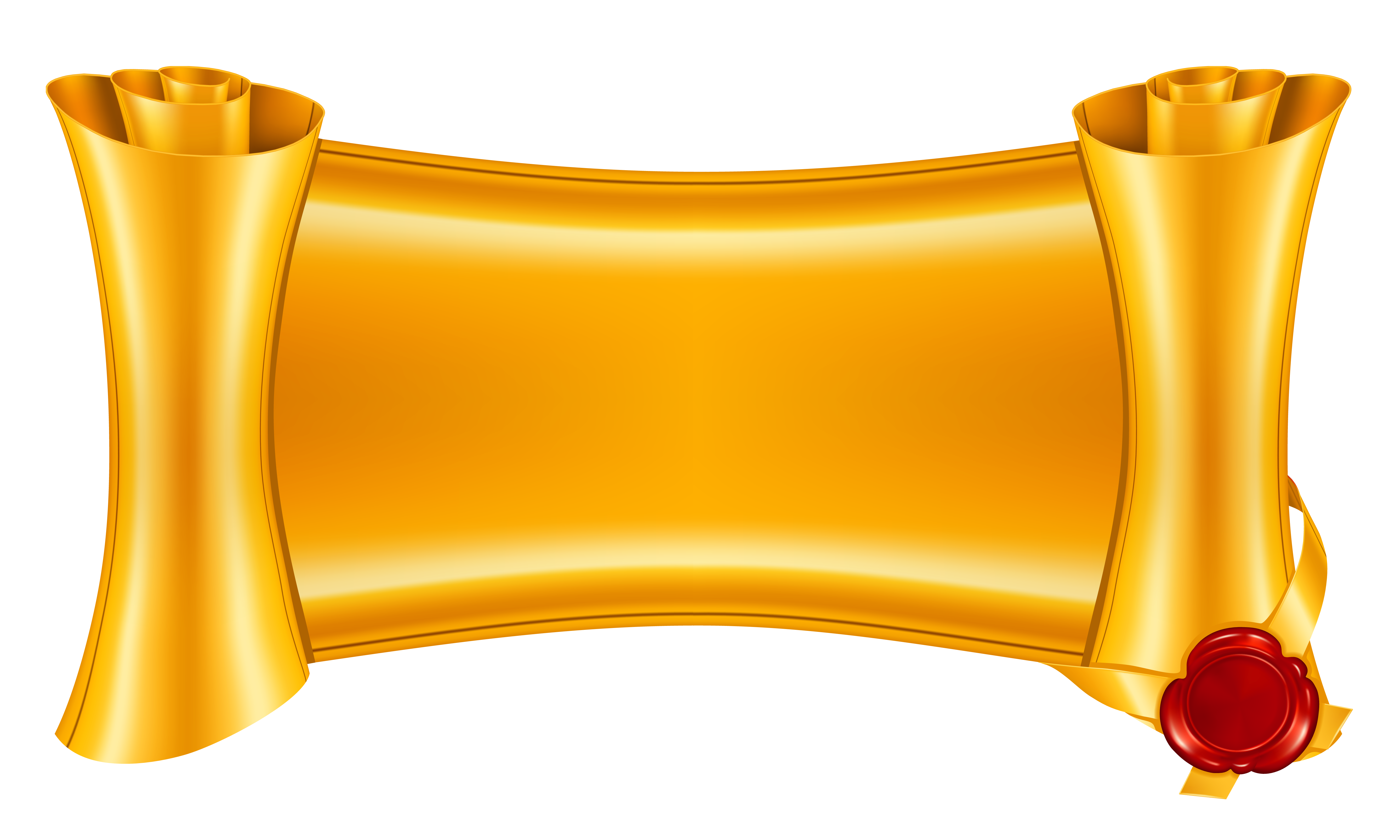 Reel to audio tape. Scroll clipart gold