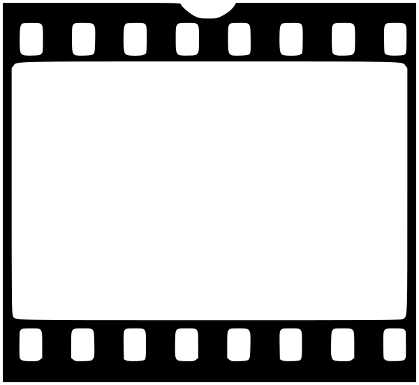 Black and white frame. Film clipart square