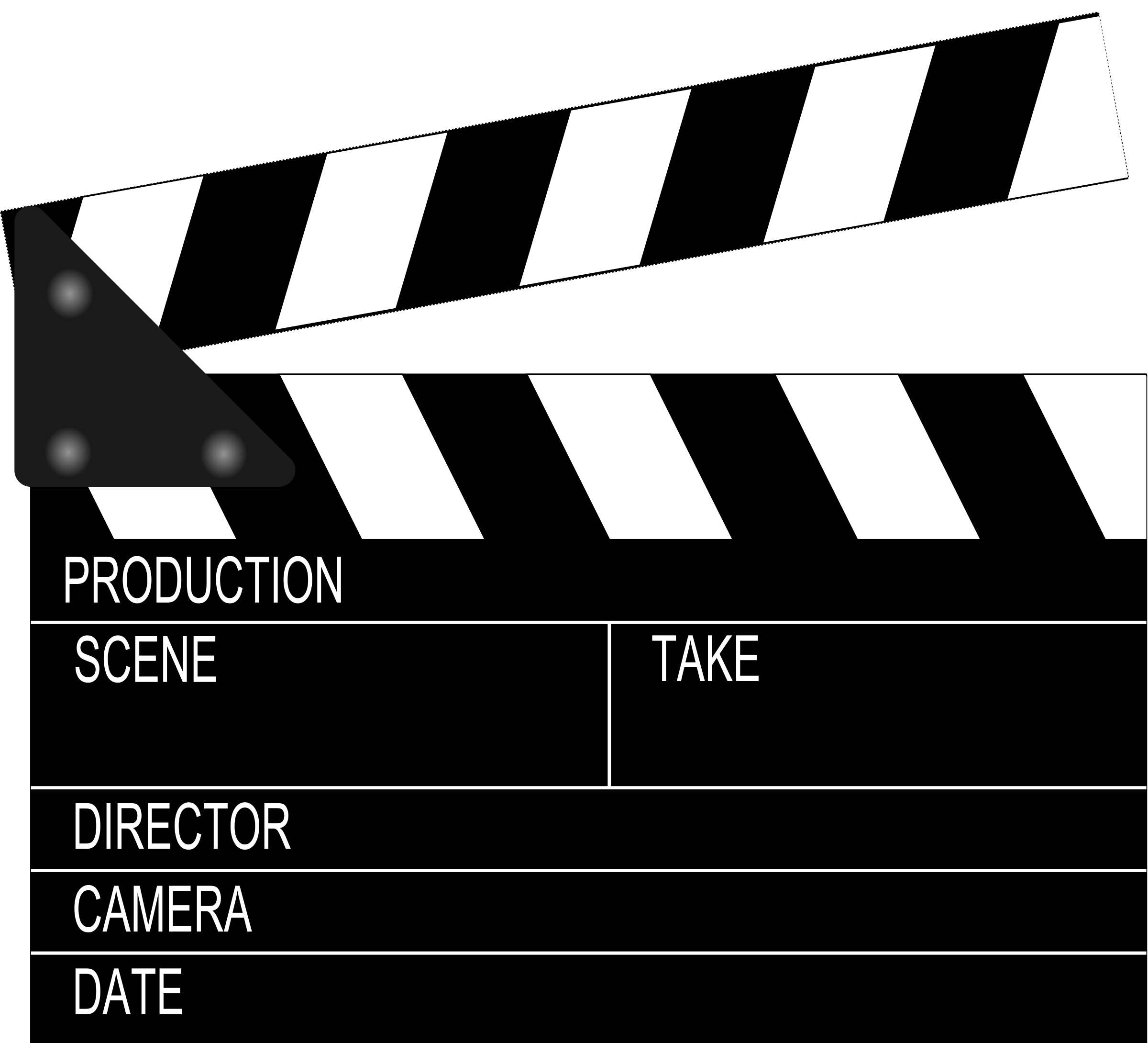 Movie clapperboard big image. Film clipart video