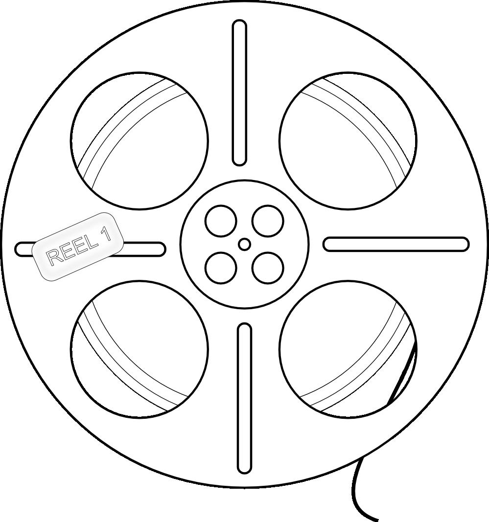 Film clipart wheel. Reel drawing at getdrawings