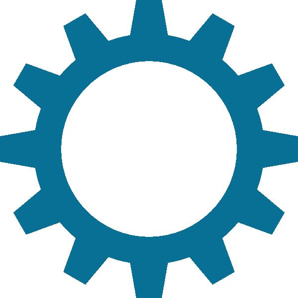 Gear clipart blue. High resolution clip art