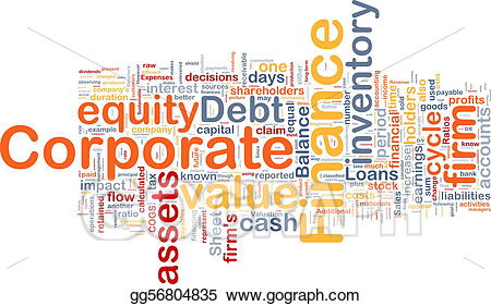 Stock illustration background concept. Finance clipart corporate finance