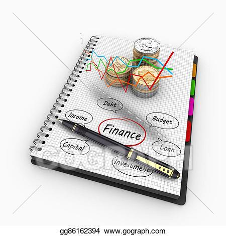 Finance clipart economy us. Stock illustration d rendering