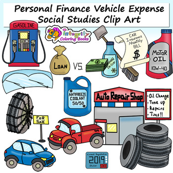 Finance clipart expense. Personal clip art vehicle