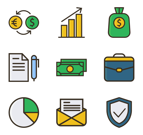 Finance clipart finance chart. Financial icons free vector