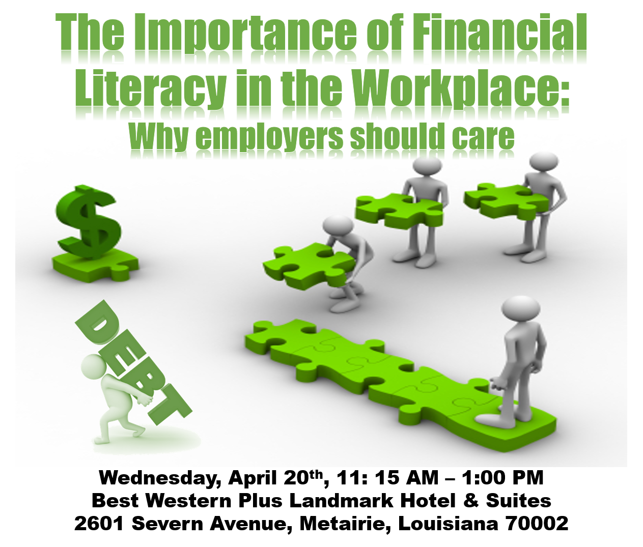 Financial clipart financial literacy. April luncheon the importance