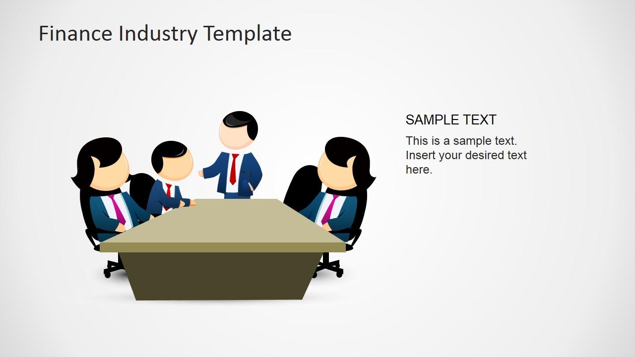 Financial board powerpoint slidemodel. Finance clipart finance meeting