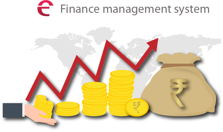 Management system connect solution. Finance clipart financial control