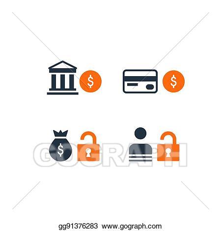 Finance clipart financial security. Vector art savings bank
