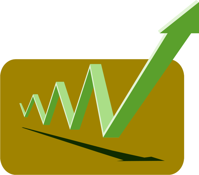 Graph clipart financial graph. Arrows green up medium