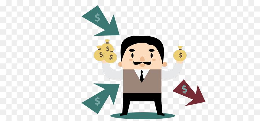 Cartoon money illustration . Finance clipart income