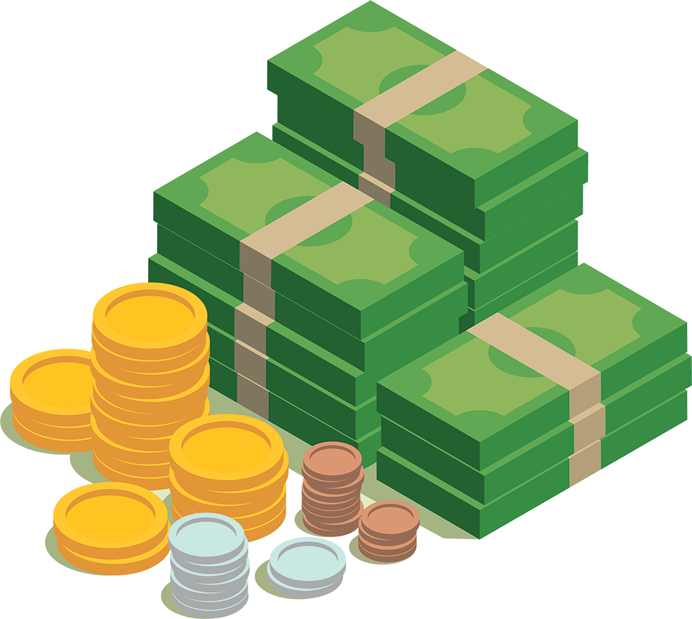 Financial management business investment. Finance clipart india money
