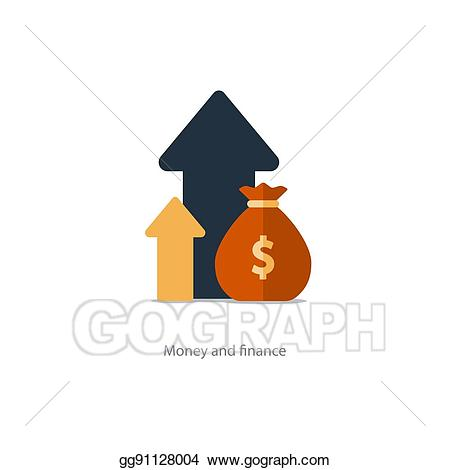 Vector finances and investment. Financial clipart revenue