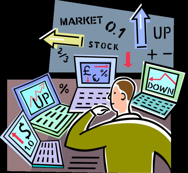 Market clipart street market. Wall financial analyst investor