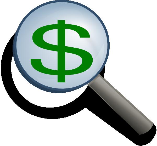 Magnifier clip art at. Finance clipart logo