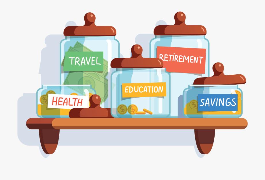 Jars illustration free . Financial clipart financial advice