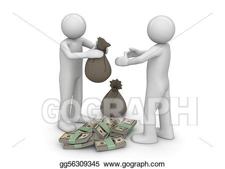 Finance clipart money. Stock illustration give me