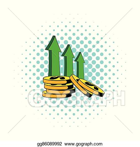 Financial clipart revenue. Vector art increase of
