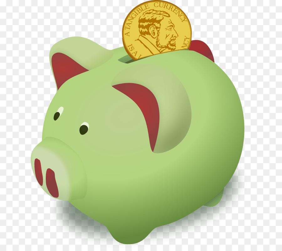 Piggy bank money transparent. Finance clipart savings