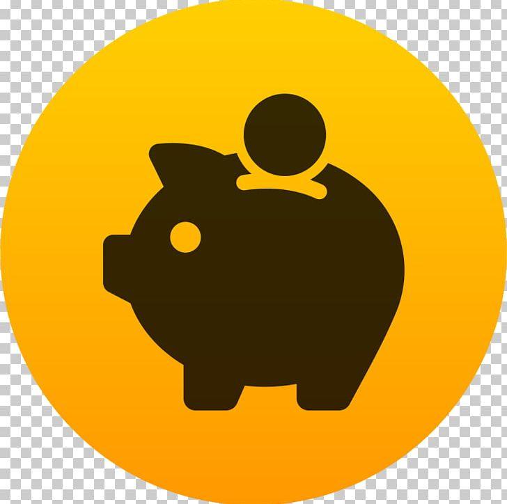 Piggy bank saving money. Finance clipart savings
