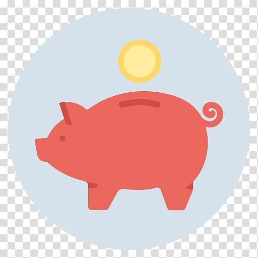Saving piggy bank computer. Financial clipart savings