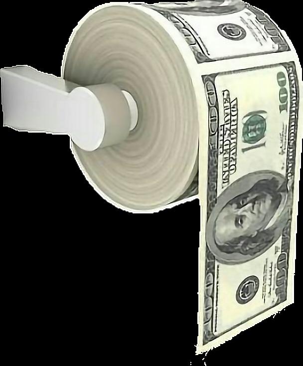 Paper toiletpaper money bands. Finance clipart stack cash