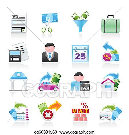 Vector art taxes business. Finance clipart tax