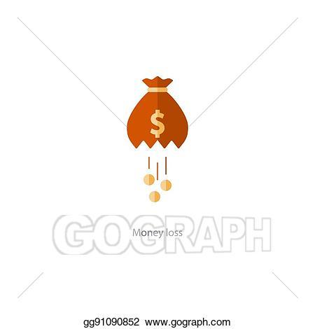 Vector illustration licking money. Financial clipart cost