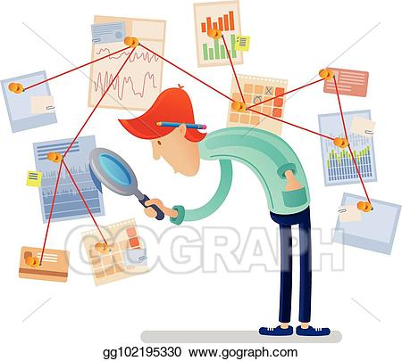 Financial clipart financial analyst. Clip art vector with