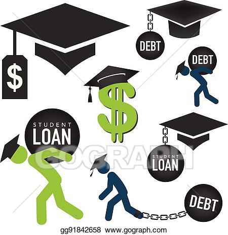 Financial clipart financial assistance. Vector graduate student loan