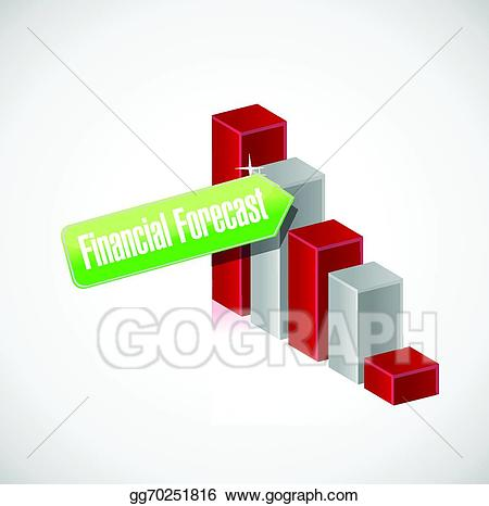 Financial clipart financial forecast. Vector business graph