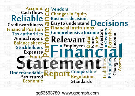 Vector stock statement illustration. Financial clipart financial position