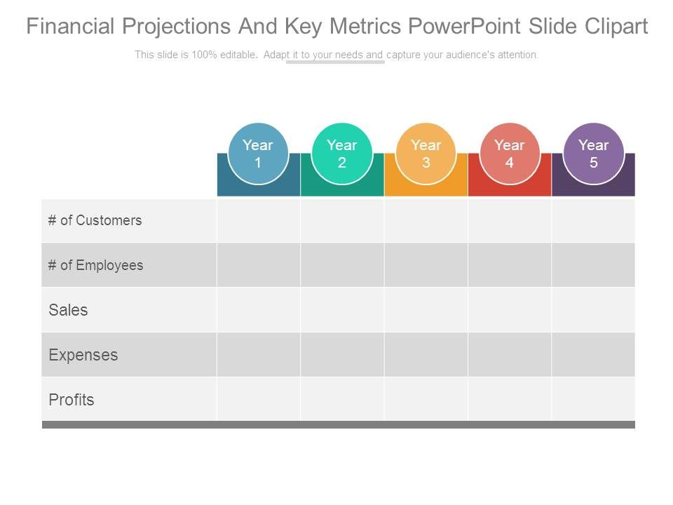 Projections and key metrics. Financial clipart financial projection