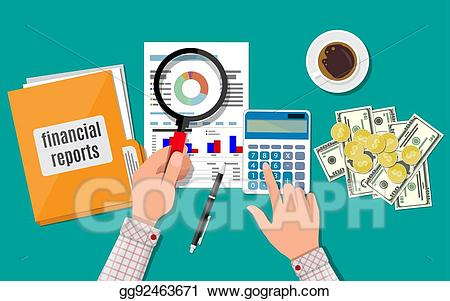 Report clipart finance report. Eps illustration financial concept
