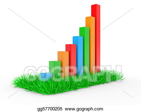 Business chart showing at. Financial clipart financial success